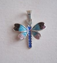 China Blue Dragonfly Pendant on sale