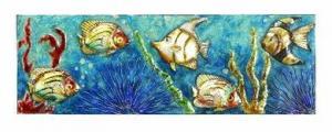 China Fish Sanctuary Metal Wall Art on sale