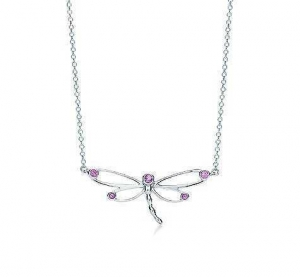 China Excellent Tiffany and Co nature dragonfly pendant pink best sale on sale