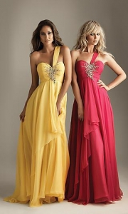 China Elegant One Shoulder Prom Dress by Night Moves 6203 on sale