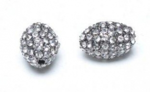 China Clear Pave Crystal Ball Beads Shamballa Rice Beads Wholesale on sale