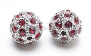 China Cheap Wholesale Blue Shamballa Pave Crystal Ball Beads Rhinestone Beads 12mm on sale