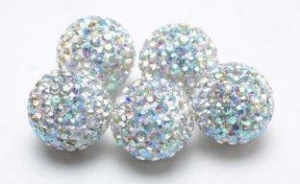 China Crystal AB Pave Shamballa Rhinestone Pave Crystal Ball Beads Wholesale on sale