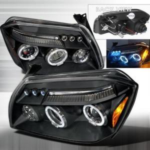 China Dodge Magnum Dodge Magnum Spec-D Halo LED Projector Headlights - Black - 2LHP-MAG05JM-TM on sale