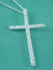 China Fashion Small Silver Cross Necklace Jewelry on sale