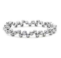 China Newest Wide Silver Cuff Bracelet With Diamond on sale