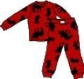 China Moose on Red Children's Pajama Set by Lazy One on sale