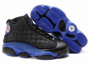 China Kid's Air Jordan 13 Shoes - black/blue on sale