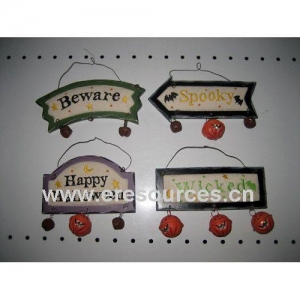 China Wooden Halloween Sign on sale