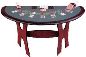 China Small Blackjack Table w/ Wood Legs on sale