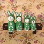 Handcraft Wood Sakura Cat Collectibles Figurines