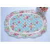 China Shabby and vintage oval wild Rose Quilted Floor runner/rug for sale