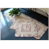 China Shabby and Vintage Pink Rose 3pc Quiltedfloor Runner/rug Set for sale
