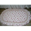 China Shabby and Vintage Oval Pink Rose Quilted Rug/mat for sale