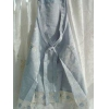 China Delicate Rose Embroidery Satin/Voile Apron-Blue for sale
