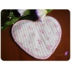 China 2pc Lovely Pretty rose Heart Quilted Oven Mitt Hot Pad for sale