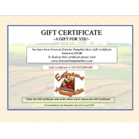 1208 - Extreme Pumpkin Store Gift Certificates