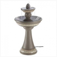 Mosaic Outdoor Yard Fountain