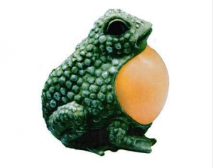 China Solar Frog Toad Belly Amber Light on sale