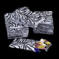 Zebra Print Merchandise Paper Bags - CLOSEOUT