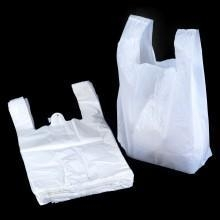 China Retail White T Shirt Plastic Merchandise Bags - LARGE on sale