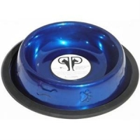 China Paw & Bone Stainless Steel Embossed Non-Tip Puppy Dog Bowl on sale