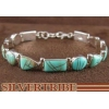 China Genuine Sterling Silver And Turquoise Inlay Jewelry Link Bracelet DS53631 for sale