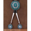 China Genuine Sterling Silver Turquoise Needlepoint Bolo Tie AS46839 for sale
