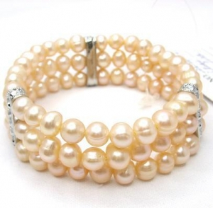 China Elastic Pearl Bracelet TBL-060515P on sale