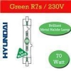 China 4 x Hyundai Metal Halide Green R7s Bulb 70W MHDE70W/G for sale