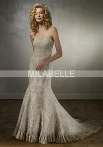 China Embroidery Lace Bridal Dress on sale
