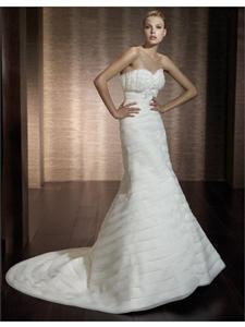 China Amazing Ivory Mermaid Bridal Gown Bridal on sale