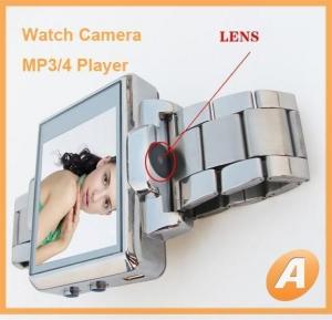 China Spy Camera Watch With 1.8 Inch Luxurious Buckle Mp4 on sale