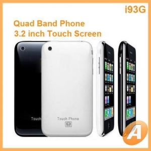 China i9 3G Touch Screen iPhone Style Mobile Phone on sale