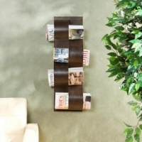 China Accessories Wave Wall Mount Magazine Rack on sale