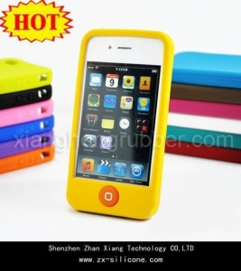 China NO.1 hot sales cell phone silicone case for Iphone 4G on sale
