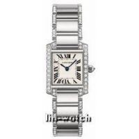 Cartier Tank Francaise 18kt White Gold Diamond Bracelet Ladies Watch WE1002SF