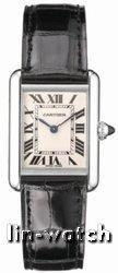 China Cartier Tank Louis 18kt White Gold Mens Watch W1540956 on sale