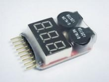 China RC Lipo Battery LED Voltage Meter Indicator alarm on sale