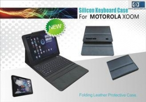 China Wireless Silicone Folding Leather Protective Case Bluetooth Keyboard For Motorola XOOM FCC on sale