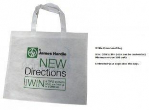China Recycle Foldable White Silk Screen Printing Polypropylene Non Woven Shopping Bags on sale