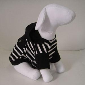 China Dogs casual sweater,Stripes casual hoodies for dogs on sale