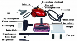 China Steam cleaner with floor mop and sweeper (3 in 1) on sale
