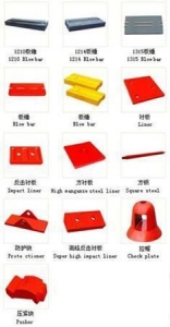 China Impact Crusher Spare Parts on sale