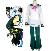 Air Gear Cosplay Simca Unicform Cloth Simca Cravat Cosplay Cotume