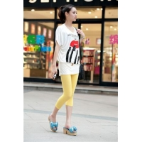 China Modal candy-colored stretch cotton leggings nine points female seventh -6 color choice -7296 on sale