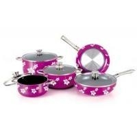 Decaling Exterior Coating Series Bakeware , Aluminum Ceramic Coating Cookware Set