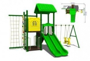 China Childrens Commercial Plastic Steel Playground Swing Sets Kit for Amusement Park on sale