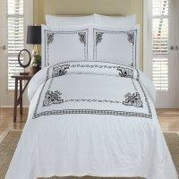 China Athena White & Black Duvet Cover Set on sale