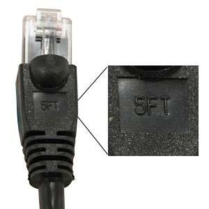 China Black 5' Cat 5e Patch Cable - Snagless Molded on sale
